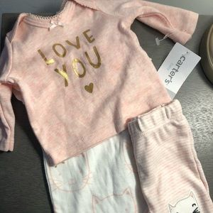 Baby girl premie outfit
